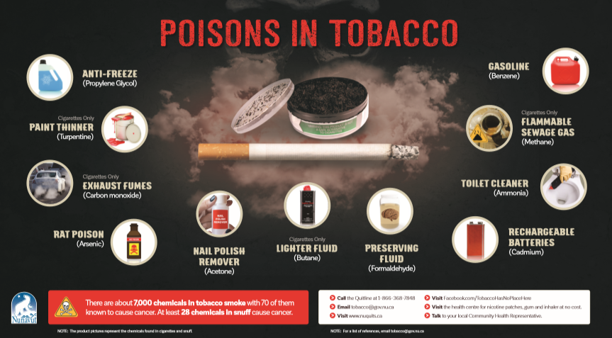Poisons in Tobacco Poster - En